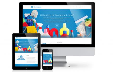 Cleanmakers Schoonmaakbedrijf website