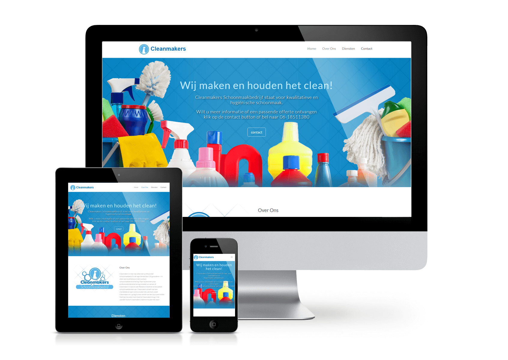 Cleanmakers Cleaning Company website