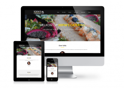 Sofia's Catering website