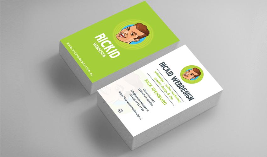 visitekaartjes professioneel laten ontwerpen rickid webdesign