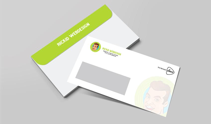 Rickidwebdesign enveloppen ontwerp