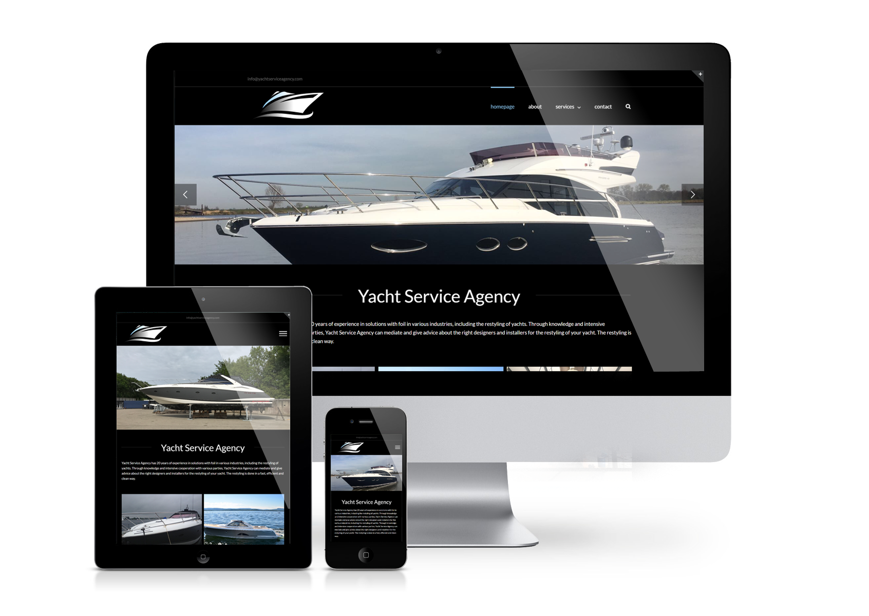 Yacht Service Agency website