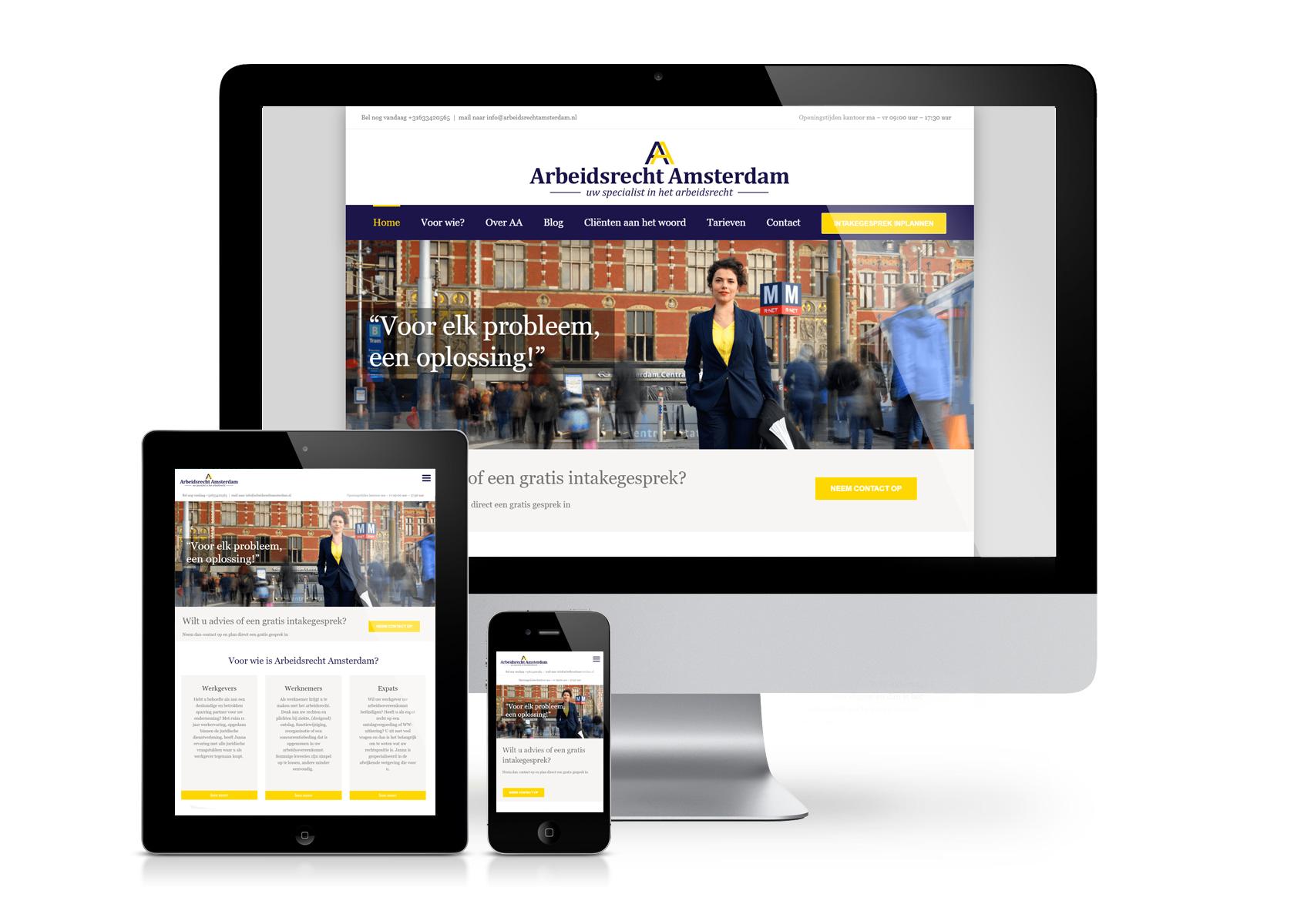 Arbeidsrecht Amsterdam website