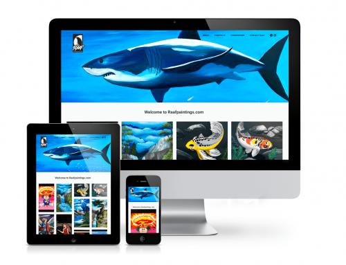 Raafpaintings portfolio website